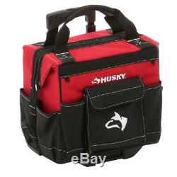 Rolling Tool Tote Storage Bag Parts Organizer 14 in Wheels Mobile Jobsite NEW