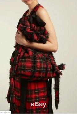 SIMONE ROCHA Tartan Wool Bag Bucket Romantic Rock'n'Roll