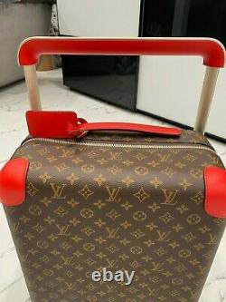 SOLD OUT 100% Authentic LOUIS VUITTON Horizon 55 Rolling Luggage Travel Bag RED
