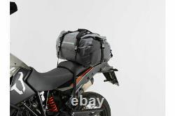 SW-MOTECH Drybag 350 Tail Bag Roll-Top Motorcycle Dry Bag 35L Grey/Black