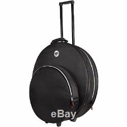 Sabian Pro 22 Black Rolling Cymbal Padded Carry Gig Bag Soft Case with Wheels