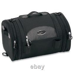Saddlemen 3515-0075 Black R1300LXE Deluxe Roll Sissy Bar Bag Luggage 21L