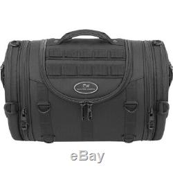 Saddlemen R1300LXE Black Tactical MOLLE Roll Bag Luggage Harley & Metric
