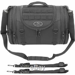 Saddlemen R1300LXE Tactical Motorcycle Roll Bag Rigid Easy Sissy Bar Mount