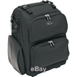 Saddlemen SDP2600 Roller Sissy Bar Rolling Luggage Bag for Harley or Metric