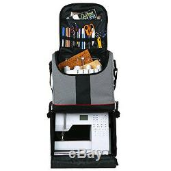 Sewing Kit Mobile Storage Bag Project Organizer Trolley Rolling Art Craft Tote