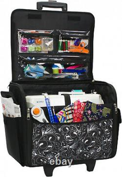 Sewing Machine Bag Tote Case 21 Storage Space Portable Rolling Sew Carry Handle
