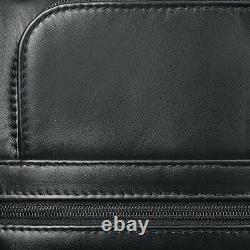 Solo D957-4 Classic 15.6 Laptop / MacBook Pro Black Leather Rolling Case New