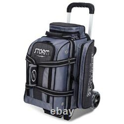 Storm Rolling Thunder 2 Ball Roller Bowling Bag Charcoal Plaid/Gray/Black