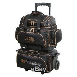 Storm Rolling Thunder 4-ball Roller Bowling Bag Black/gold Checkered Bag