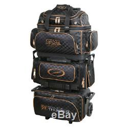 Storm Rolling Thunder 6-ball Roller Bowling Bag Black/gold Checkered