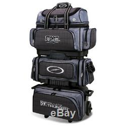 Storm Rolling Thunder 6-ball Roller Bowling Bag Charcoal Plaid/grey/black