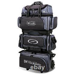 Storm Rolling Thunder Charcoal Plaid/Grey/Black 6 Ball Roller Bowling Bag