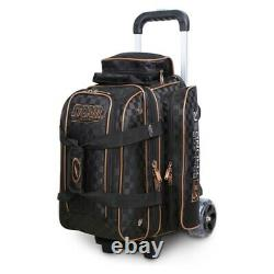 Storm Rolling Thunder Checkered Black/Gold 2 Ball Roller Bowling Bag