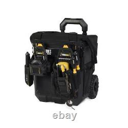 TOUGHBUILT Large Rolling Massive Mouth 15-in Tool Bag 23 Pockets Construction