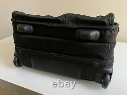 TUMI Alpha Black Ballistic Nylon Wheeled Rolling Laptop Deluxe Brief 26104DH