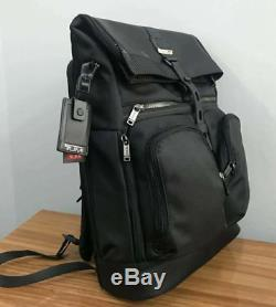 TUMI Alpha Bravo London Roll Top Backpack Black Men Business Laptop Bag DHL POST