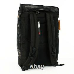 TUMI Gray Highlands Camo ALPHA BRAVO LONDON ROLL-TOP Leather Trim Backpack NWT