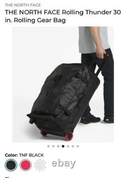 The North Face Rolling Thunder 30 Inch Carry On Rolling Duffle Luggage Bag! NWT