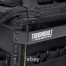 Tool Bag Rolling Massive Mouth Durable Tool Storage Organizer Home XL 18 Inch