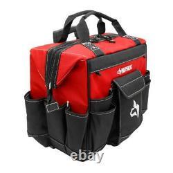 Tool Storage Tote Bag Organizer 18 in. Rolling Wheel Weather Resistant Jobsite