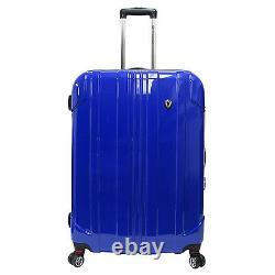 Traveler's Choice 29 Blue Sedona Pure Polycarbonate Spinner Luggage Travel Bag