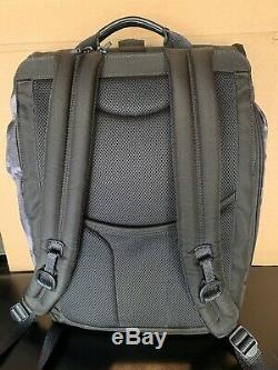 Tumi Alpha Bravo London Roll Top Laptop Business Backpack Charcoal Restoration