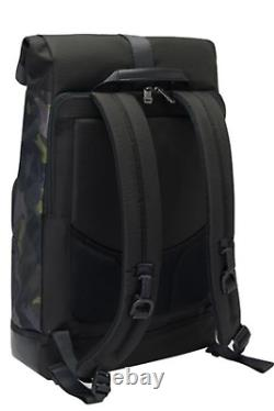 Tumi Cypress Roll Top Camo Print 15in Laptop Large Unisex Nylon Leather Backpack