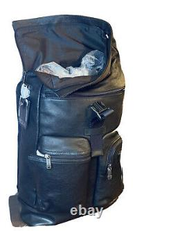 Tumi Cypress Roll Top Leather Backpack