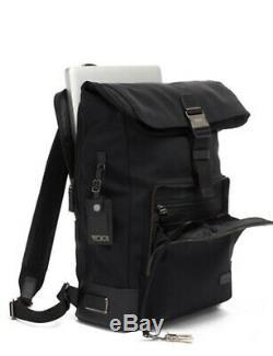 Tumi Harrison Oak Roll Top Backpack Business Laptop Bag Black RARE