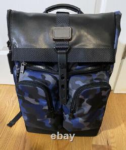 Tumi London Roll-Top Backpack Alpha Bravo Blue Camo Bravo