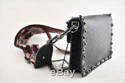 Valentino Rockstud Black Rolling Bead Love Blade Guitar Shoulder Crossbody Bag