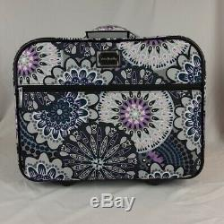 Vera Bradley Rolling Work Bag Luggage Mimosa Medallion New NWT MSRP $265