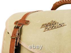 Vespa Roll Bag Vintage Look Moto Nostra Lambretta Modena Scomadi RA Beige Waxed