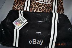 Victorias Secret Pink LEOPARD 3 Pc Luggage Wheelie Duffel Bag Set Suitcase NWT