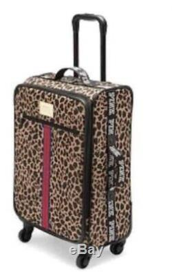Victorias Secret Pink LEOPARD Carry On Wheelie Suitcase Duffle Bag SOLD OUT NWT