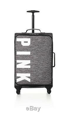 Victorias Secret Pink MARLED Logo Carry On Wheelie Luggage Suitcase Duffle Bag