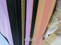Victorias Secret Pink Signature Stripe Rolling Luggage + Duffel Bag New Read