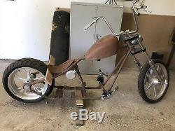 West Coast Choppers Cfl 2 Up Frame, Rolling Chassis, Oil Bag, Neck Badge