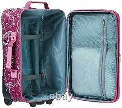 Wheeled Luggage Set 2 Piece Rolling Suitcase Tote Carry On Bag Travel Flight US