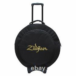 Zildjian ZCB22R 22-Inch Premium Rolling Cymbal Bag with 16-Inch Hi-Hat Pocket