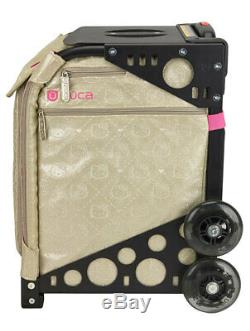 Zuca Sport Hello Kitty Good as Gold Special Edition Black Frame Rolling Bag